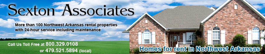 Northwest Arkansas Homes for rent