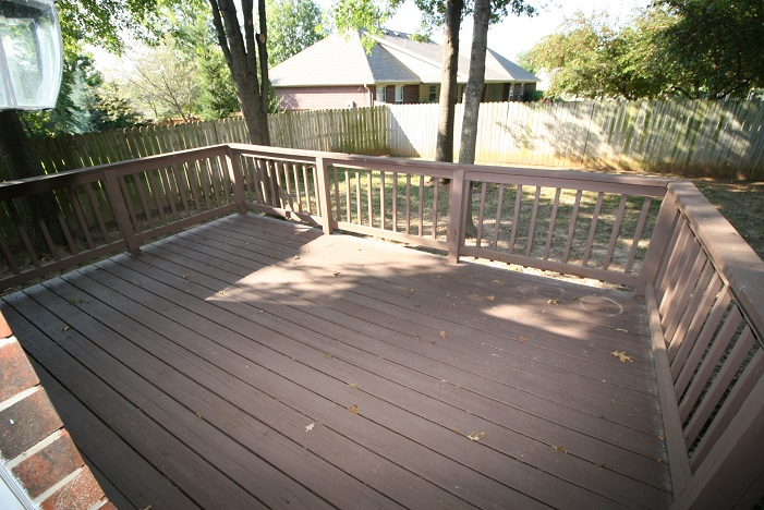 Back wooden deck