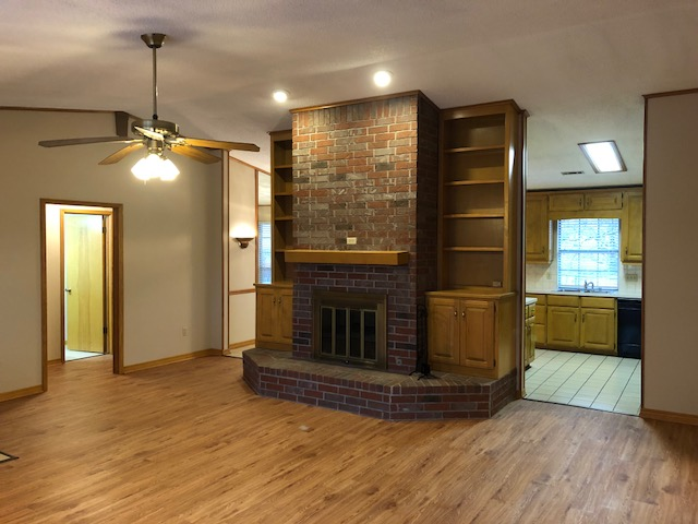 1163 Ash Living open to Kitchen, Dining & Hall